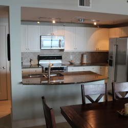 Kitchen from dining table