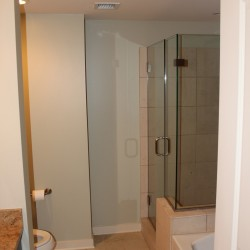 Master bathroom with shower and separate garden tub